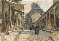 market day, dinan by frank lewis emanuel
