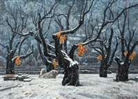 大地无言 (winter scenery) by ma yiping