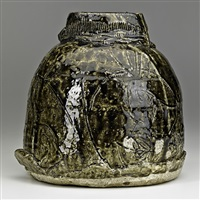 and incised vessel by paul soldner