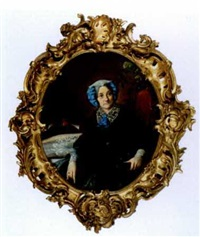 a portrait of mother by sergei konstantinovich zaryanko