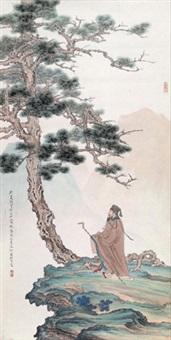 东坡居士吟松 by ren zhong