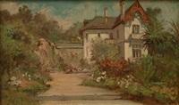villa dans un jardin fleuri by alberto vianelli