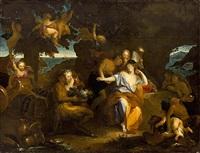 baco y ariadna by charles-antoine coypel