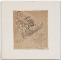 portrait de paul gärtner (+ portrait de jeune fille et étude de bras, verso) by johann philipp eduard gaertner