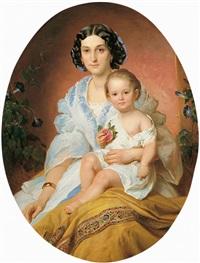 bildnis einer jungen dame mit ihrem kind by franz dobiaschofsky