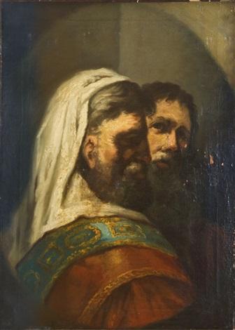 portrait zweier alttestamentarischer männer by gerbrand van den eeckhout