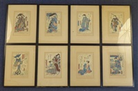 figure studies (8 works) by utagawa toyokuni (toyokuni i)