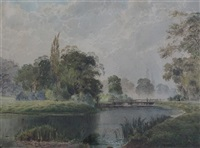 river landscape by arthur willett