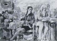 zwei frauen im café by jürgen leippert