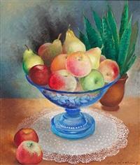 bodegón con frutas by olga sacharoff