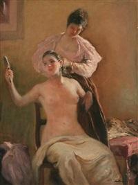 escena de tocador by ernest santasusagna santacreu