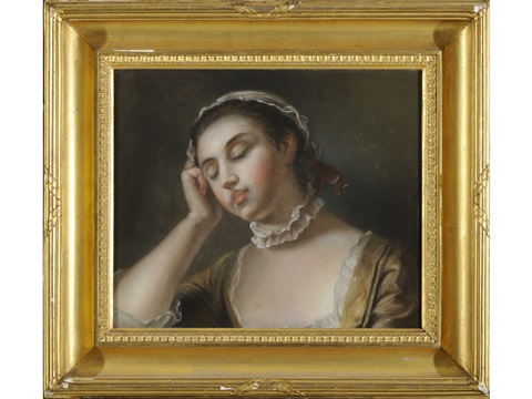 a sleeping girl by pietro antonio rotari