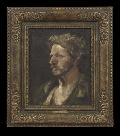 portrait of a man by frank duveneck