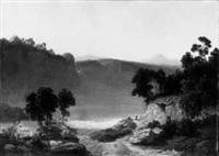 romantische mittelgebirgslandschaft by leonhard rausch