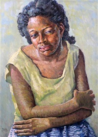 portrait of a jamaican woman pinkie by albert huie