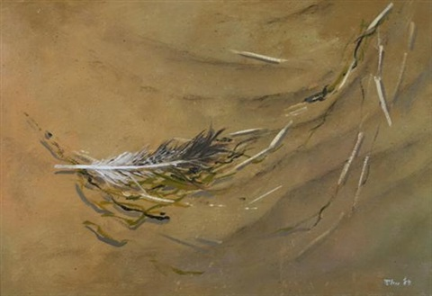 feather in the sand by robert r bliss