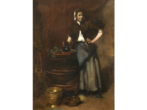 the serving girl by antoine vollon