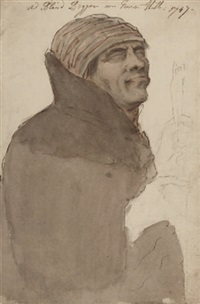 a blind beggar on tower hill by louis-philippe boitard