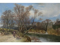 an april afternoon at easby abbey by james peel