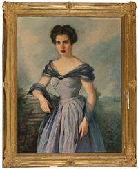 retrato de una joven by ernest santasusagna santacreu