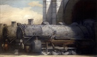 three engines at the station by richard bunkall