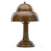 on table lamp with classical group and gothic by smith metal arts
