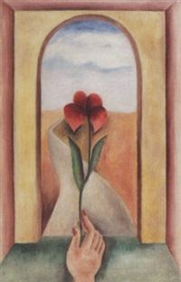 flower in a window by karl gasslander