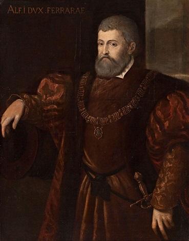 retrato de alfonco i duque de ferrara by titian tiziano vecelli