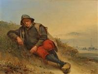 resting fisherman by johannes hilverdink