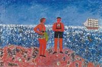 strandparti med personer i badetoj by marcel rasmussen