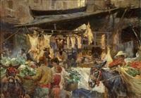 neapolitanischer markt by franz theodor aerni