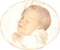 portræt af sovende barn by anna archer