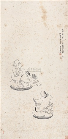 白描授经图 figure story by song nian