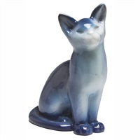 figural cat by louise abel