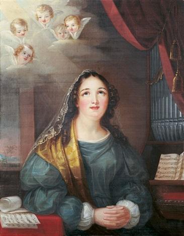 die heilige cäcilie an der orgel by eberhard wächter