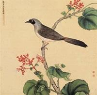 海棠山雀 by jiang tingxi