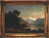 château de chillon am genfer see by raphael carl reinhard
