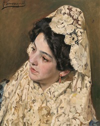 joven con mantilla by josé mongrell torrent