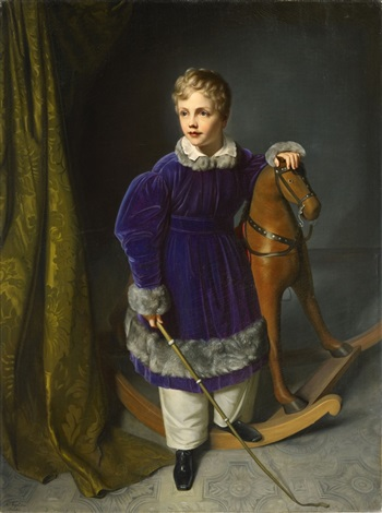king albert of saxonia as child by carl christian vogel von vogelstein
