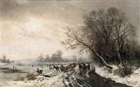 winterlandschaft bei weimar by paul wilhelm tübbecke