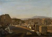 sommertag in den ruinen des antiken pompeji by frans vervloet