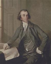 portræt af en mand i gronlig dragt by john francis rigaud