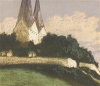 kirche in broacker by arthur illies