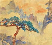 黄山小景 by zhou bichu