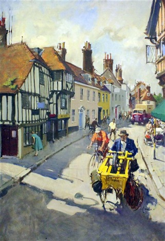 the bottle neck lewes for the british rail poster by terence cuneo
