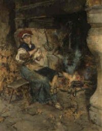 by the hearth by domenico pennachini