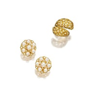 a pair of ear clips and ring (set of 2) by frederico buccellati