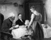 familie am tisch by otto heichert