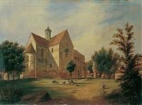 blick auf die klosterkirche lehnin in der mark brandenburg by carl daniel freydanck