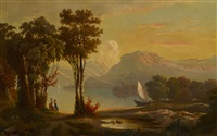 landscape with figures by american school-hudson river (19)